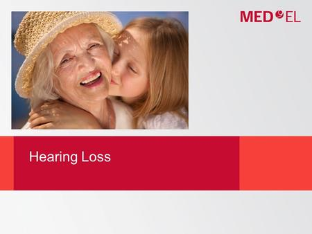 Hearing Loss. © MED-EL  How We Hear  Types of Hearing Loss  Ways to treat Hearing Loss Outline.