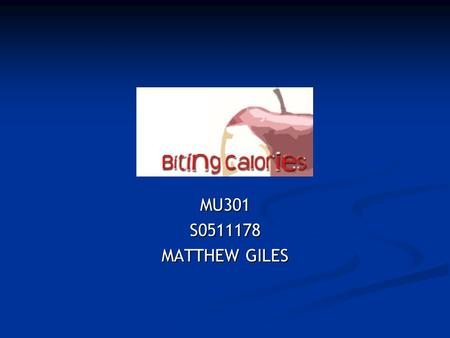 MU301S0511178 MATTHEW GILES. Overview Introduction Introduction Current Weight Loss sites Current Weight Loss sites Proposal/Target Market/Executive Summary.