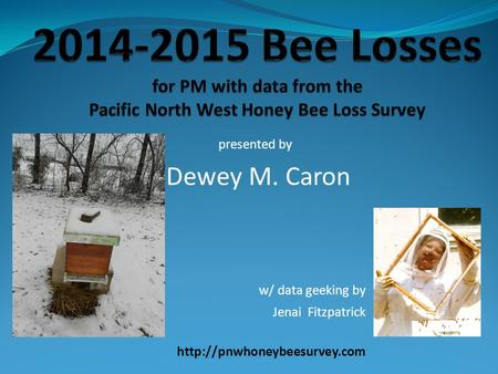 Presented by Dewey M. Caron w/ data geeking by Jenai Fitzpatrick