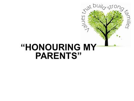 """HONOURING MY PARENTS"". Ezekiel 22:7 (NLT) 'Father and mothers are contemptuously ignored'."