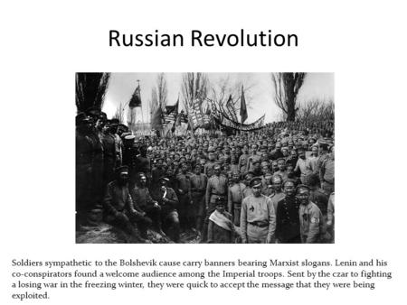 Understanding the real causes of the russian revolution