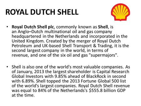 risk management practices by royal shell