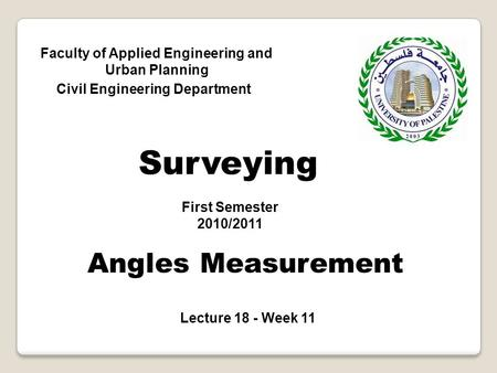Surveying Angles Measurement
