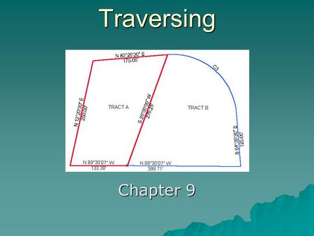 Traversing Chapter 9. Closed Traverse Showing Interior Angles.