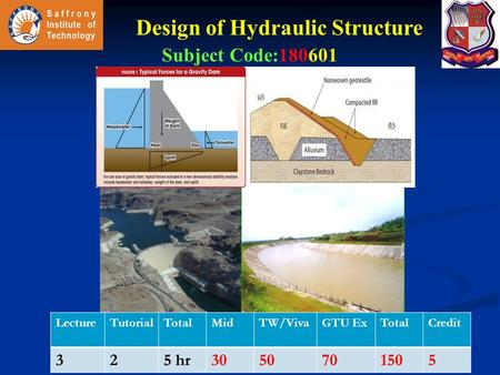Design of Hydraulic Structure