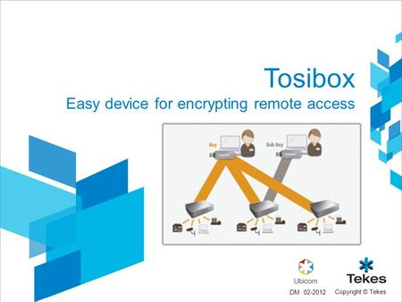 Copyright © Tekes Tosibox Easy device for encrypting remote access 02-2012DM.