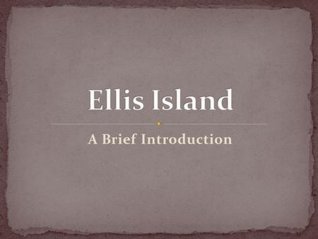 A Brief Introduction. Before Ellis Island's immigration system was built, over 8 million immigrants came through Castle Garden Immigration Depot – run.