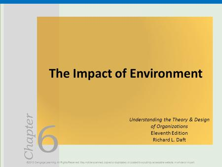 The Impact of Environment