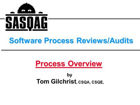 Software Process Reviews/Audits
