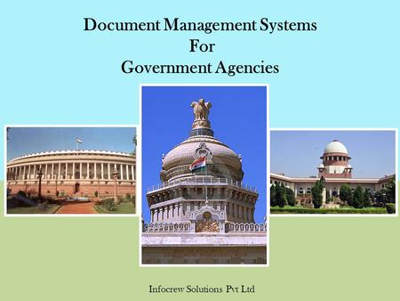 Document Management Systems For Government Agencies Infocrew Solutions Pvt Ltd.