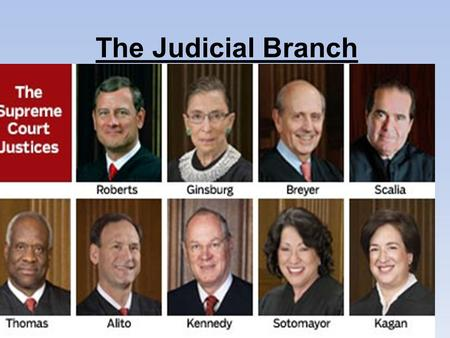 The Judicial Branch. Judicial Branch Article III of the Constitution by creating a National Supreme Court. Article III also gave Congress the power to.