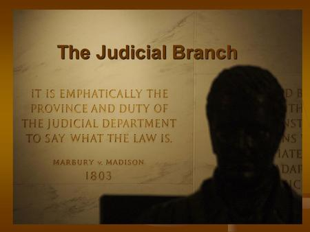The Judicial Branch. Separation of Powers I. The Judicial Branch A. Article III B. Interprets the laws C. Determines Constitutionality D. Protects our.