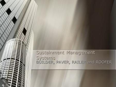 Sustainment Management Systems