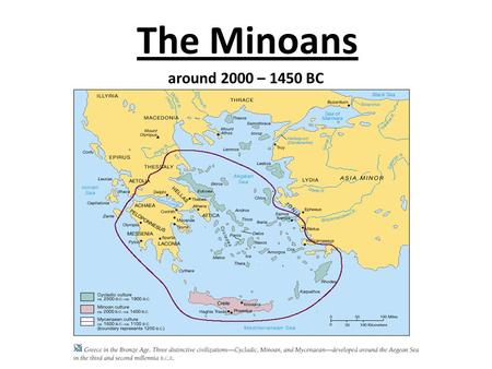 The Minoans around 2000 – 1450 BC. Table of contents 1. The Palace Civilization of the Aegean The Palace Civilization of the Aegean 2. Excavations Excavations.