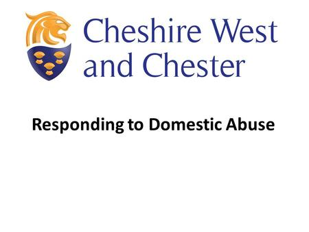 Responding to Domestic Abuse