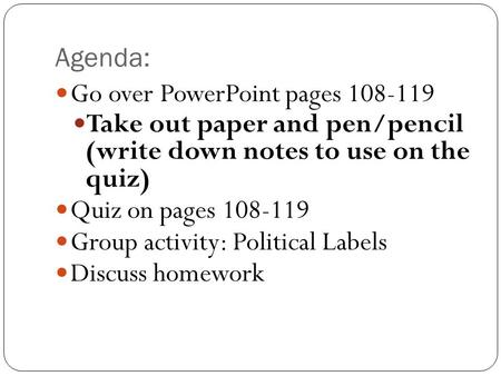 Go over PowerPoint pages