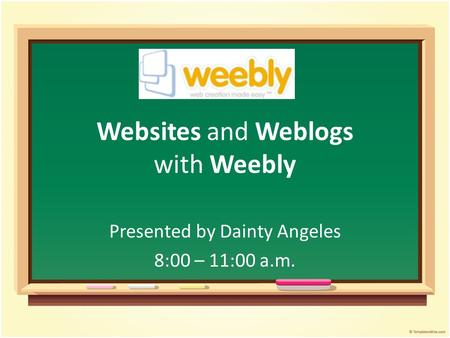 Websites and Weblogs with Weebly
