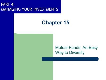 Mutual Funds: An Easy Way to Diversify