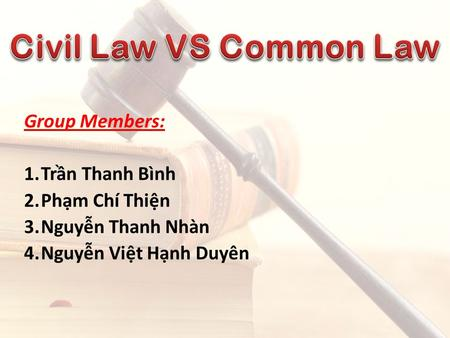 characteristics common law The characteristics, admissibility, proof, validity or otherwise of customary law - chapter three (3.