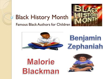 Black History Month Famous Black Authors for Children.
