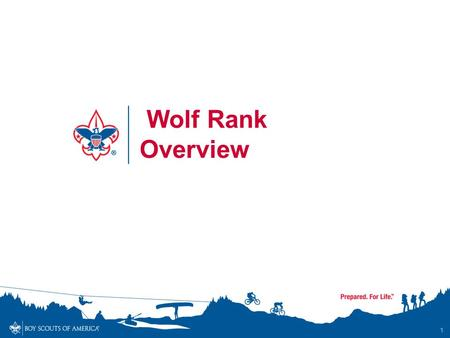 1 Wolf Rank Overview. Wolf Rank Overview - Objectives By the end of the session, participants will… Understand and communicate to others the updated requirements.