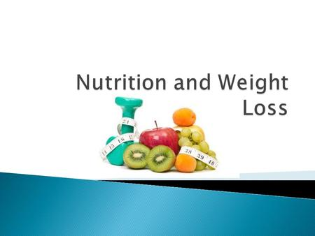  Weight measures  Calories: men/women  Portion size  Fad diets  Adherence to diets  Conclusion.