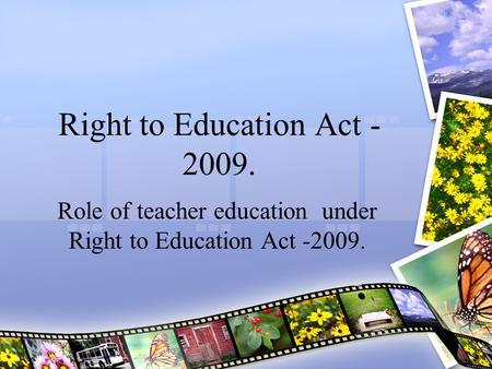 essay right education act