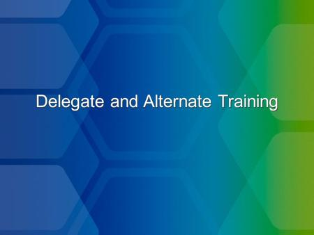 Delegate and Alternate Training. Attend the business meetings, including the executive session (caucus)