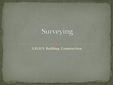 S.H.H.S Building Construction