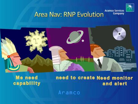 Aramco. In Part 2 you will discover the evolution of required navigation performance and its use in performance based navigation. 1. Overview of CNS-ATM.