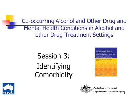 1 Co-occurring Alcohol and Other Drug and Mental Health Conditions in Alcohol and other Drug Treatment Settings Session 3: Identifying Comorbidity.