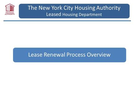 The New York City Housing Authority Leased Housing Department