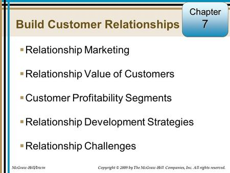 Build Customer Relationships