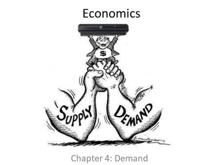 Economics Chapter 4: Demand.