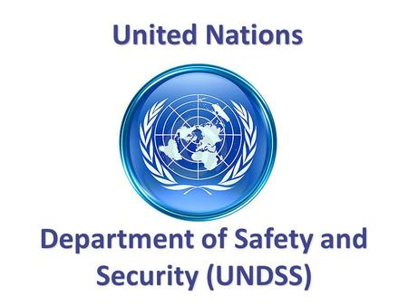 Department of Safety and Security (UNDSS)