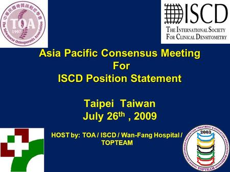 Asia Pacific Consensus Meeting For ISCD Position Statement