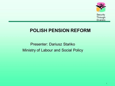 Presenter: Dariusz Stańko Ministry of Labour and Social Policy