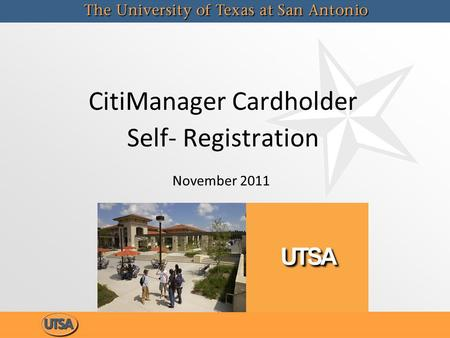 CitiManager Cardholder Self- Registration November 2011.
