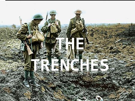 The Origin of Trench Warfare  After their defeat at the Marne (in France), the Germans retreated to a more fortified position  They built a small network.