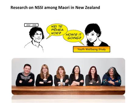 Research on NSSI among Maori in New Zealand. SI vs NSSI.