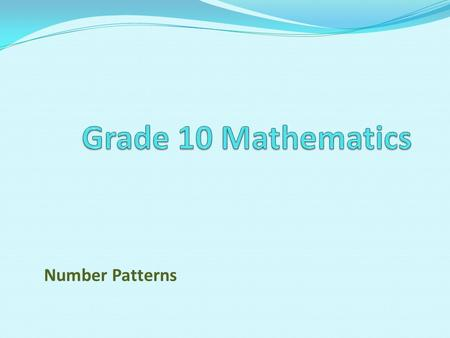 introduction of number pattern How teachers can present and discuss growing patterns to introduce students to  functions  when asked to predict the number of tiles for the.