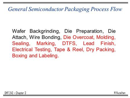 General Semiconductor Packaging Process Flow