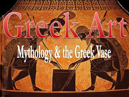 Very few Greek painted pictures have survived the 2500 years since they were painted. Most of what we know about Greek art comes from the pictures they.