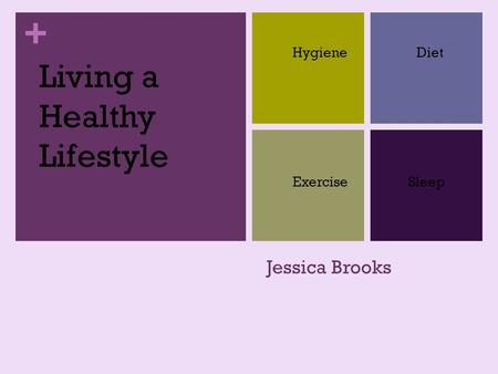 + Jessica Brooks HygieneDiet ExerciseSleep Living a Healthy Lifestyle.