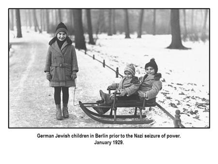 German Jewish children in Berlin prior to the Nazi seizure of power