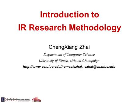Introduction to IR Research Methodology