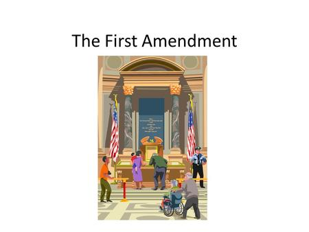 The First Amendment. Actual Text Congress shall make no law respecting an establishment of religion, or prohibiting the free exercise thereof; or abridging.