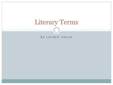 What literary term can I use?