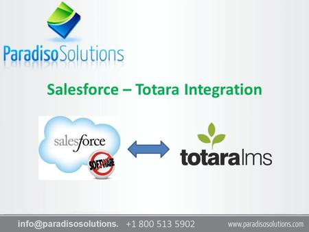 +1 800 513 5902 com Salesforce – Totara Integration.