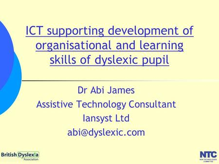 Assistive Technology Consultant